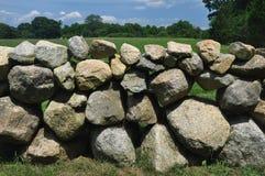 Parete di pietra sul Martha's Vineyard fotografia stock libera da diritti