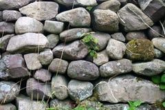 Parete di pietra sulla penisola delle Dingle in Irlanda Fotografie Stock