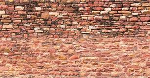 Parete di pietra tradizionale di rosso indiano Fotografia Stock Libera da Diritti