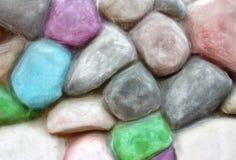 Parete di pietra variopinta Fotografie Stock