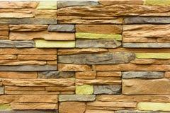 parete di pietra variopinta della priorità bassa Immagine Stock Libera da Diritti