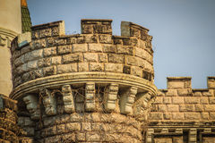 Parete di pietra di vecchia struttura del fondo del castello Fotografia Stock Libera da Diritti