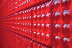 Parete di plastica rossa Immagini Stock