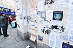 Parete di protesta Immagini Stock Libere da Diritti
