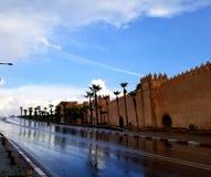 Parete di Rabat Medina fotografia stock