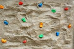 Parete di scalata di roccia Fotografia Stock