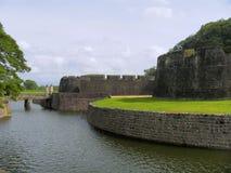 Parete di Tipu Sultan Fort, Palakkad, Kerala, India Immagine Stock Libera da Diritti