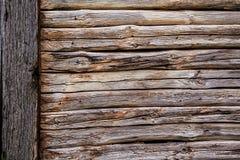 Parete di una parete della casa di ceppo Fotografia Stock Libera da Diritti