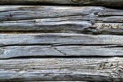 Parete di una parete della casa di ceppo Fotografie Stock