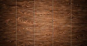 Parete di vecchi bordi di legno della plancia Superficie materiale di legno di struttura fotografie stock
