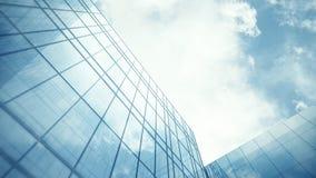 Parete di vetro del grattacielo Immagini Stock