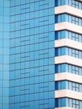 Parete di vetro dello specchio della costruzione Immagine Stock Libera da Diritti