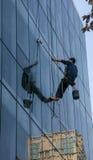 Parete di vetro di pulizia più pulita a Chengdu, porcellana Fotografia Stock Libera da Diritti