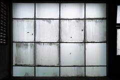 Parete di vetro sporca Fotografia Stock