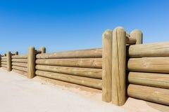 Parete di Wood Poles Low del recinto Immagine Stock Libera da Diritti