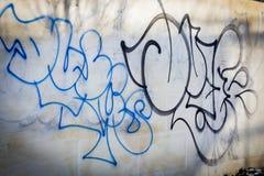 Parete dipinta dal vandalo Via di Mosca Immagini Stock Libere da Diritti