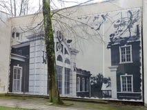 Parete dipinta, Lituania Immagini Stock Libere da Diritti