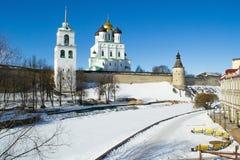 Pskov antica Kremlin Fotografie Stock Libere da Diritti