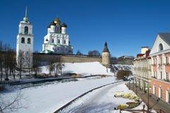 Fortezza di Pskov Fotografia Stock