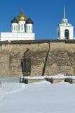 Pskov antica Kremlin Fotografia Stock Libera da Diritti