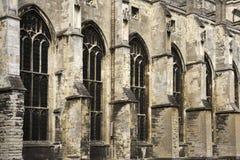 Parete e finestre della cattedrale di Canterbury Immagini Stock Libere da Diritti