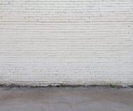 Parete e pavimento bianchi Immagini Stock