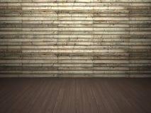 Parete e pavimento di legno Fotografie Stock Libere da Diritti