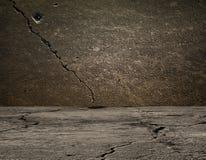 Parete e pavimento grigi di calcestruzzo con le ombre Fotografie Stock Libere da Diritti