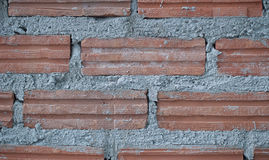 Parete e recinto di configurazione dal mattone dell'argilla Fotografia Stock