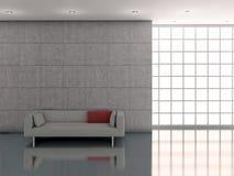 Parete e sofà interni del briciolo Fotografia Stock Libera da Diritti