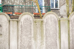 Parete ebrea del ghetto, Cracovia, Polonia fotografie stock
