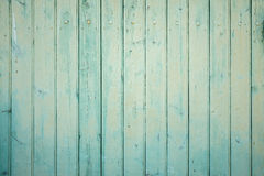 Parete esterna delle plance di legno del turchese Immagini Stock