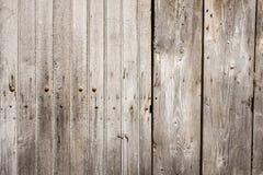 Parete esterna delle plance di legno marroni Fotografie Stock