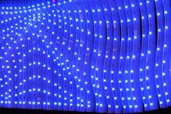 Parete esterna principale delle luci di costruzione moderna Fotografia Stock