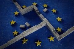 Parete europea immagini stock