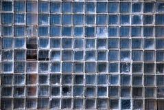 Parete fatta dei blocchi di vetro quadrati Fotografia Stock Libera da Diritti
