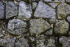 Parete fatta di grandi rocce sottragga la priorità bassa Fotografie Stock Libere da Diritti