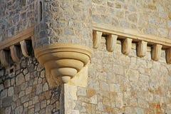 Parete forte della torretta del castello Fotografie Stock