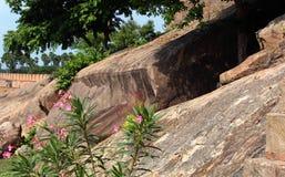 Parete forte e paesaggio delle rocce immagini stock libere da diritti