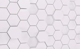 Parete futuristica bianca di Abstact 3d rendono illustrazione vettoriale