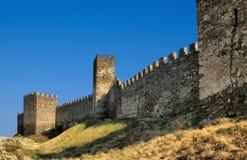 Parete Genoese della fortezza Fotografie Stock