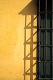 Parete gialla Fotografie Stock