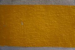 Parete gialla del cemento Fotografia Stock