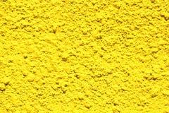 Parete gialla luminosa del concentre Fotografie Stock Libere da Diritti