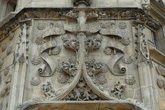 Parete gotica Immagine Stock