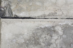 Parete grigia del cemento con la crepa. Fotografia Stock Libera da Diritti