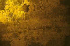Parete grungy dell'oro a Parigi Fotografia Stock