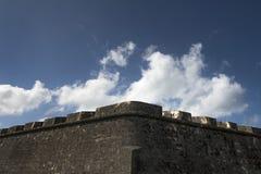 Parete impenetrabile medievale del castello Fotografia Stock Libera da Diritti