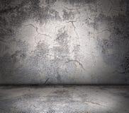 Parete incrinata e pavimento Fotografia Stock Libera da Diritti