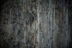 Parete incrinata Grungy del cemento Fotografia Stock